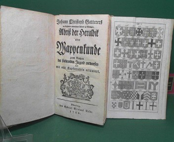 Abriß der Heraldik oder Wappenkunde zum Nuzen der studierenden Jugend entworfenund mit acht Kupfertafeln erläutert. 1.Auflage,