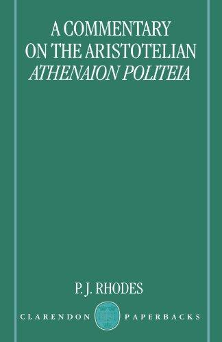 A Commentary On The Aristotelian Athenaion Politeia (Clarendon Paperbacks)  Auflage: 2Rev Ed - Rhodes, P. J.