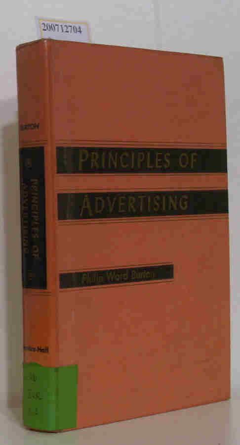 Principles of Advertising Chairman, Advertising Department Syracuse University