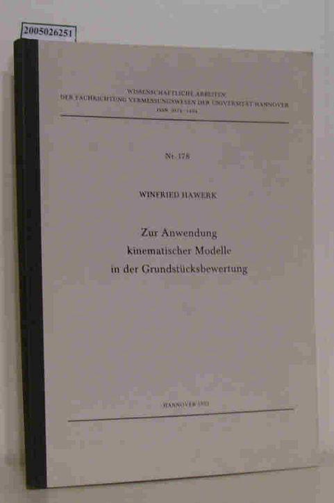 Zur Anwendung kinematischer Modelle in der Grundstücksbewertung