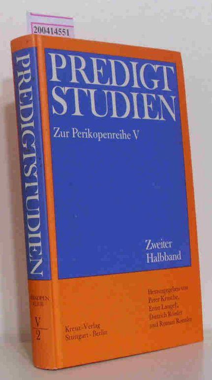 Predigtstudien für das Kirchenjahr 1977 Perikopenreihe V - Zweiter Halband