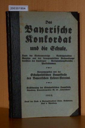 Bayerische Konkordat und die Schule
