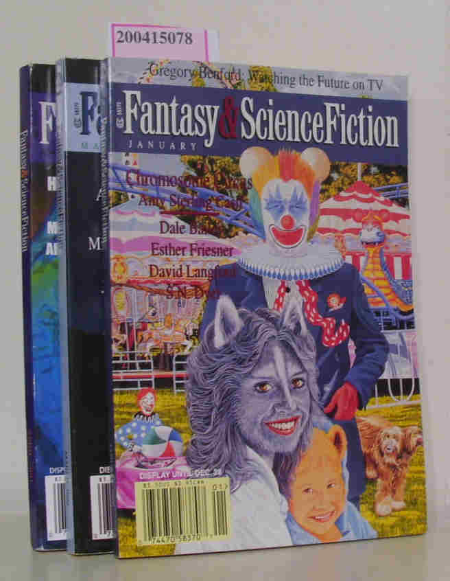 Fantasy & Science Fiction January, March, April 2000