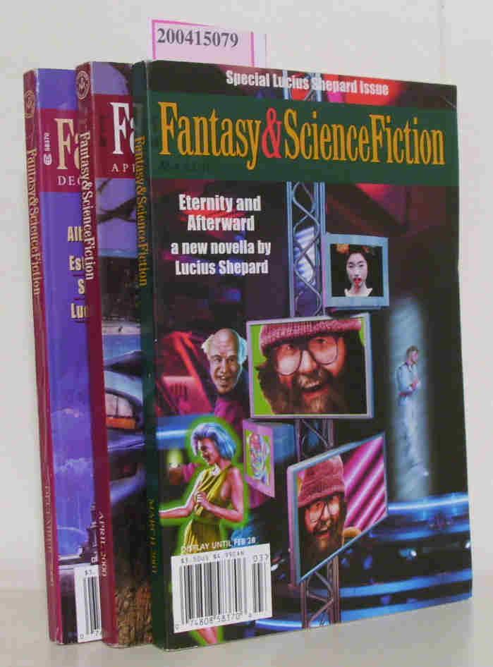 Fantasy & Science Fiction March, April, December 2001