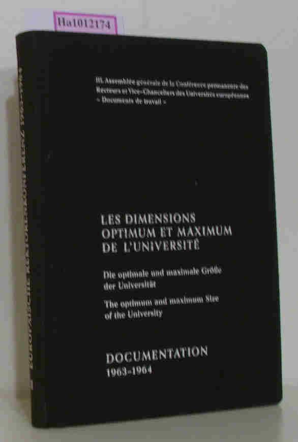Les Dimensions optimum et maximum de l