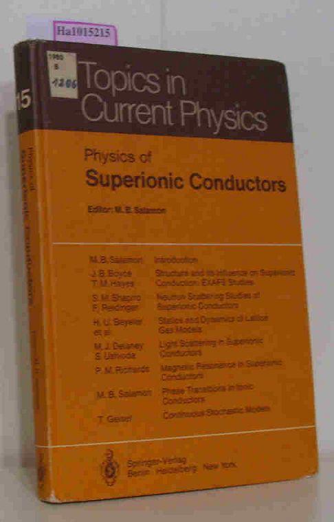 Salamon,  M. B. (Ed.): Physics of Superionic Conductors.
