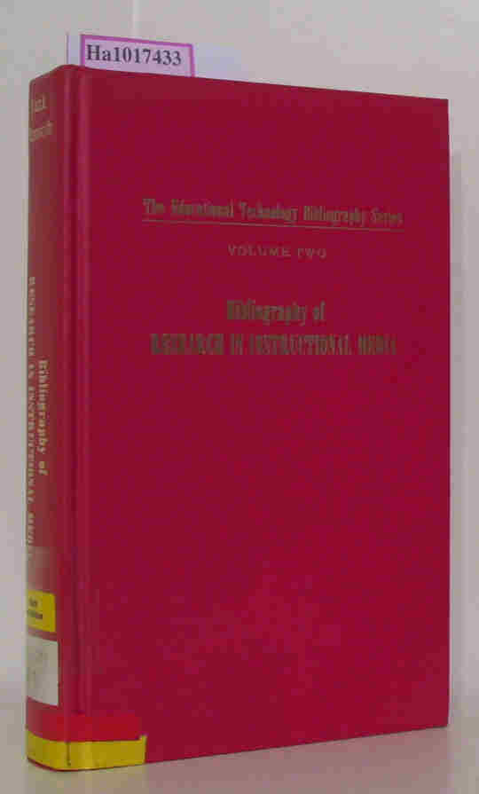 Bibliography of Research in Instructional Media. (=The Educational Technology Bibliography Series  Volume 2).