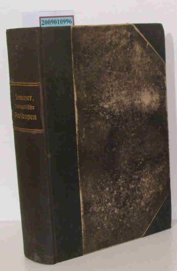 Die  evangelischen Perikopen des Kirchenjahres exegetisch und homiletisch behandelt von J. L. Sommer. Im homiletischen Teil mit Beiträgen von mehreren Geistlichen