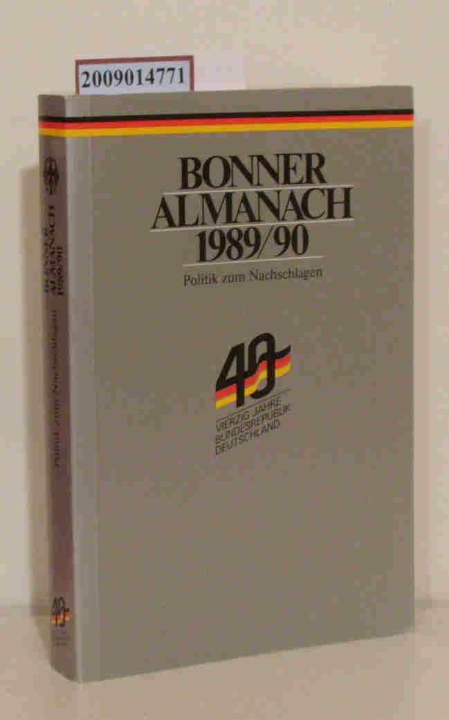 Bonner Almanach 1989/90 Politik zum Nachschlagen