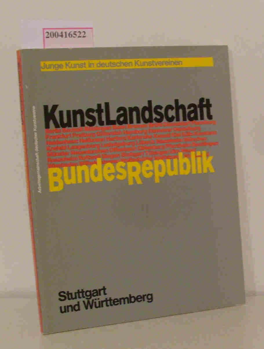 KunstLandschaft BundesRepublik Stuttgart und Württemberg