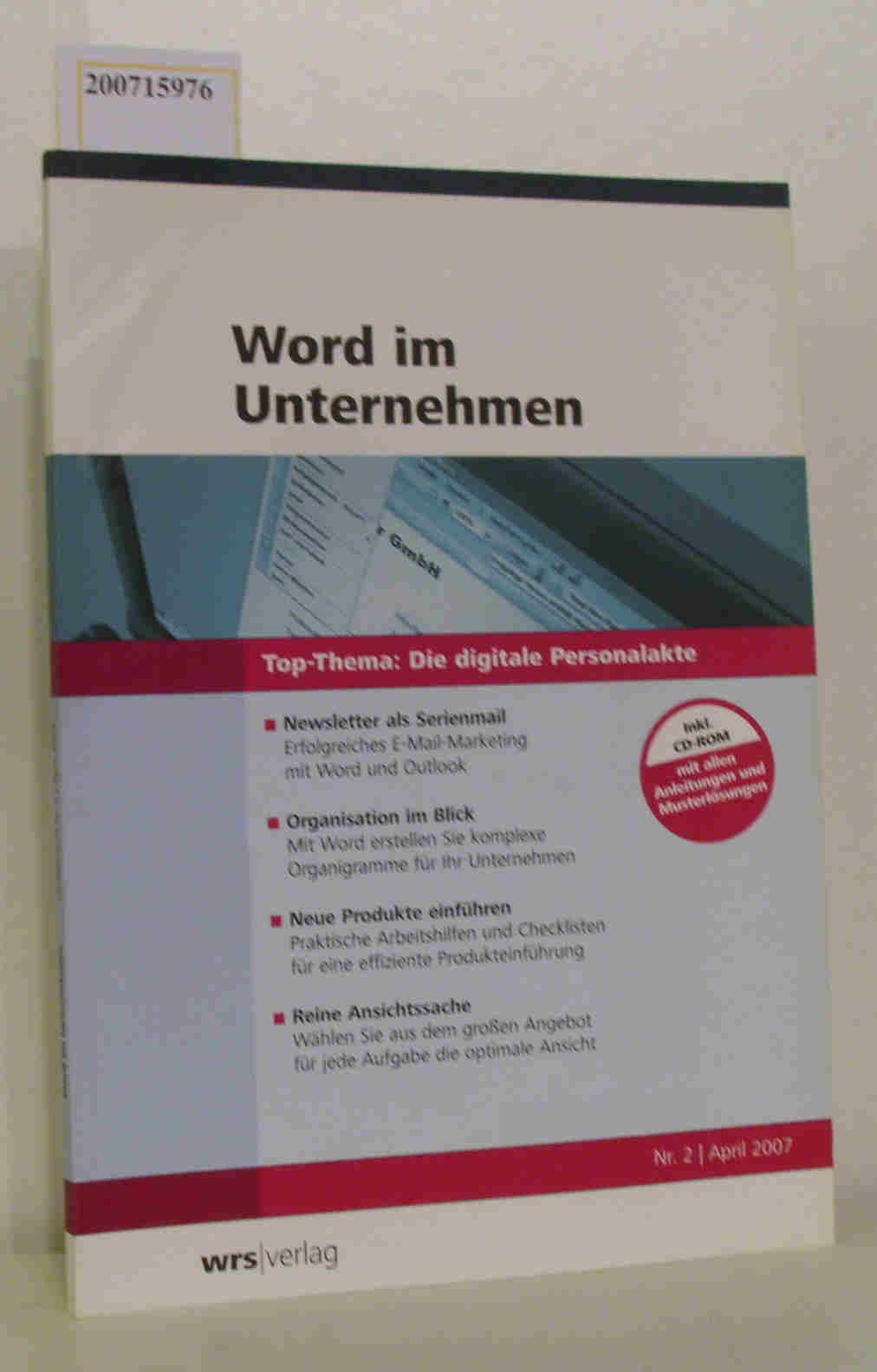 Word im Unternehmen- Die digitale Personalakte