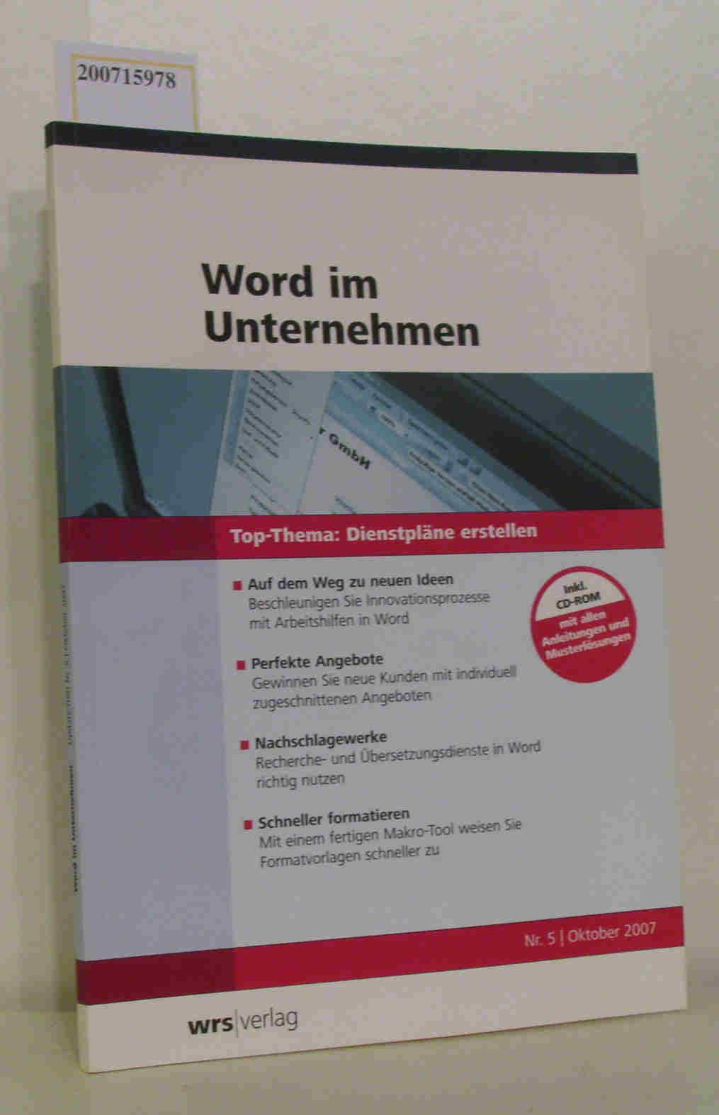 Word im Unternehmen- Dienstpläne erstellen