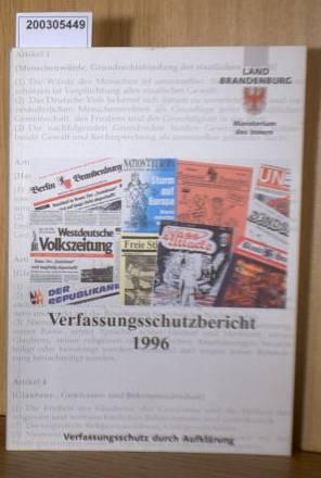 Verfassungsschutzbericht Brandenburg 1996