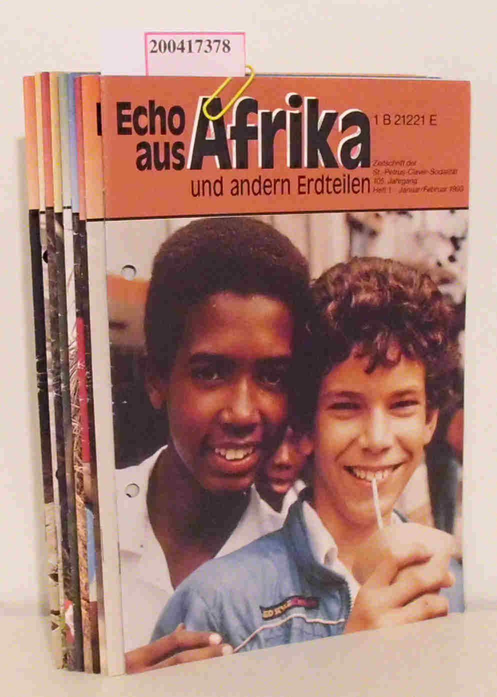 Echo aus Afrika und andern Erdteilen Jahrgang 1993 komplett Zeitschrift der St.-Petrus-Claver-Sodalität