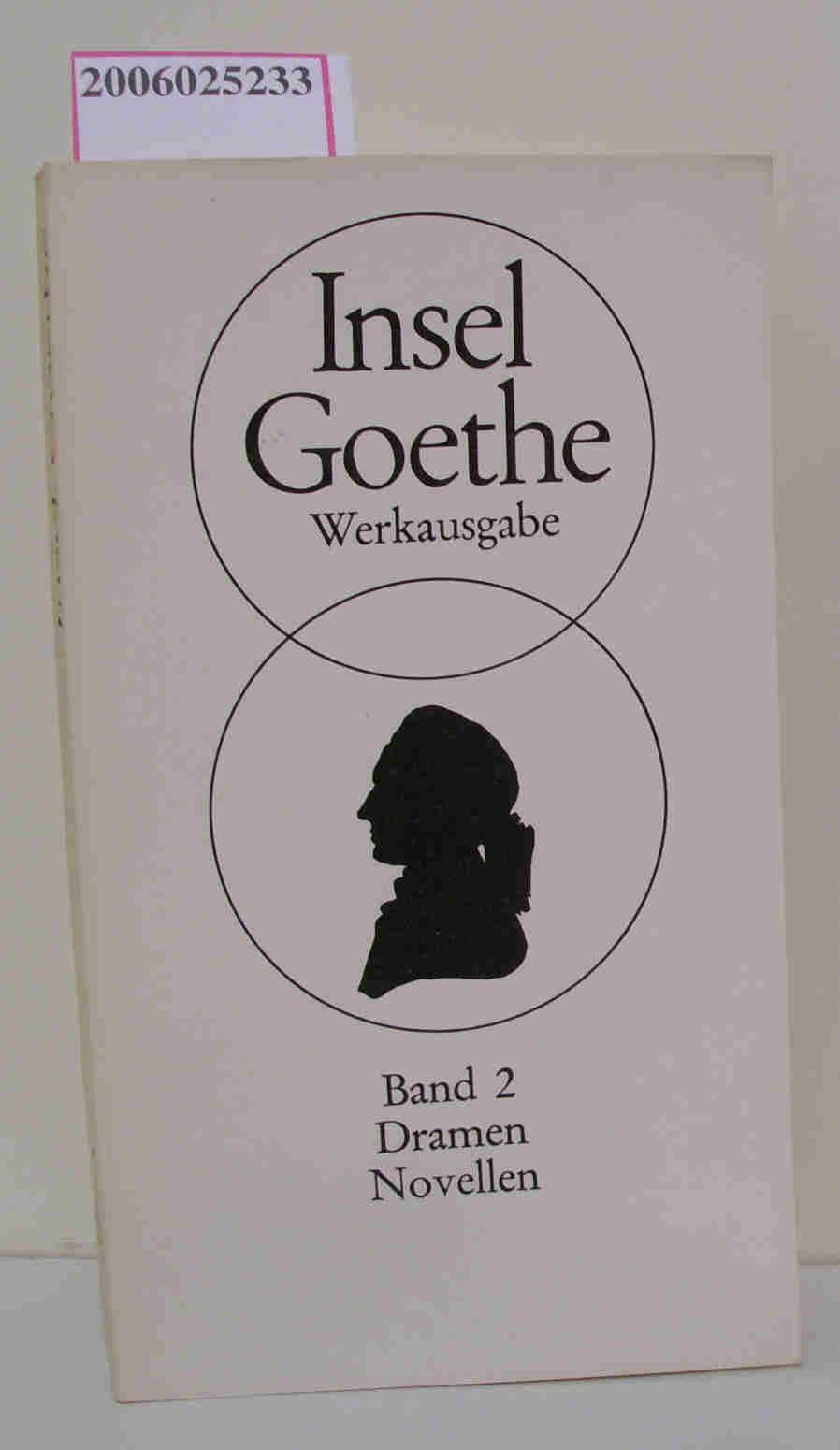Goethe Werkausgabe Band 2 Dramen Noellen