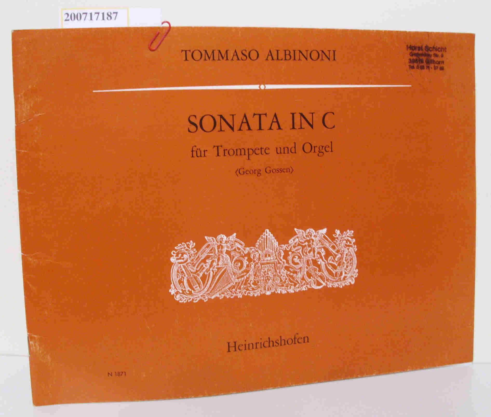 Sonata in C für Trompete und Orgel