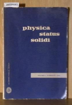 Physica Status Solidi / Volume3 Number 4 - 1963