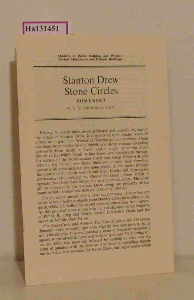 Stanton Drew. Stone Circles. Somerset. (= Reprinted from: Ancient Monuments and Historic Buildings).
