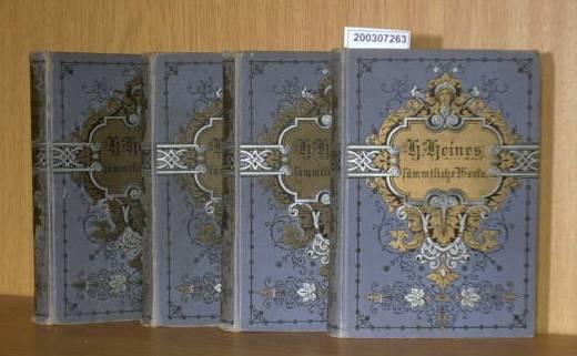 Heinrich Heines sämmtliche Werke - Ausgabe in 12 Bände - Band 1/2 3/4 5/6 und 9/10 (4 Bücher)