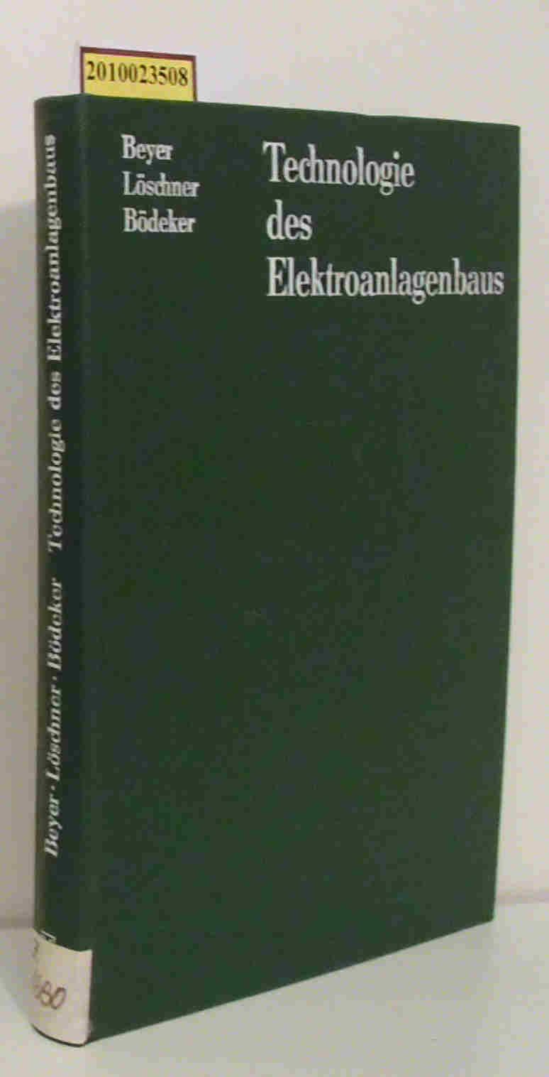 Technologie des Elektroanlagenbaus