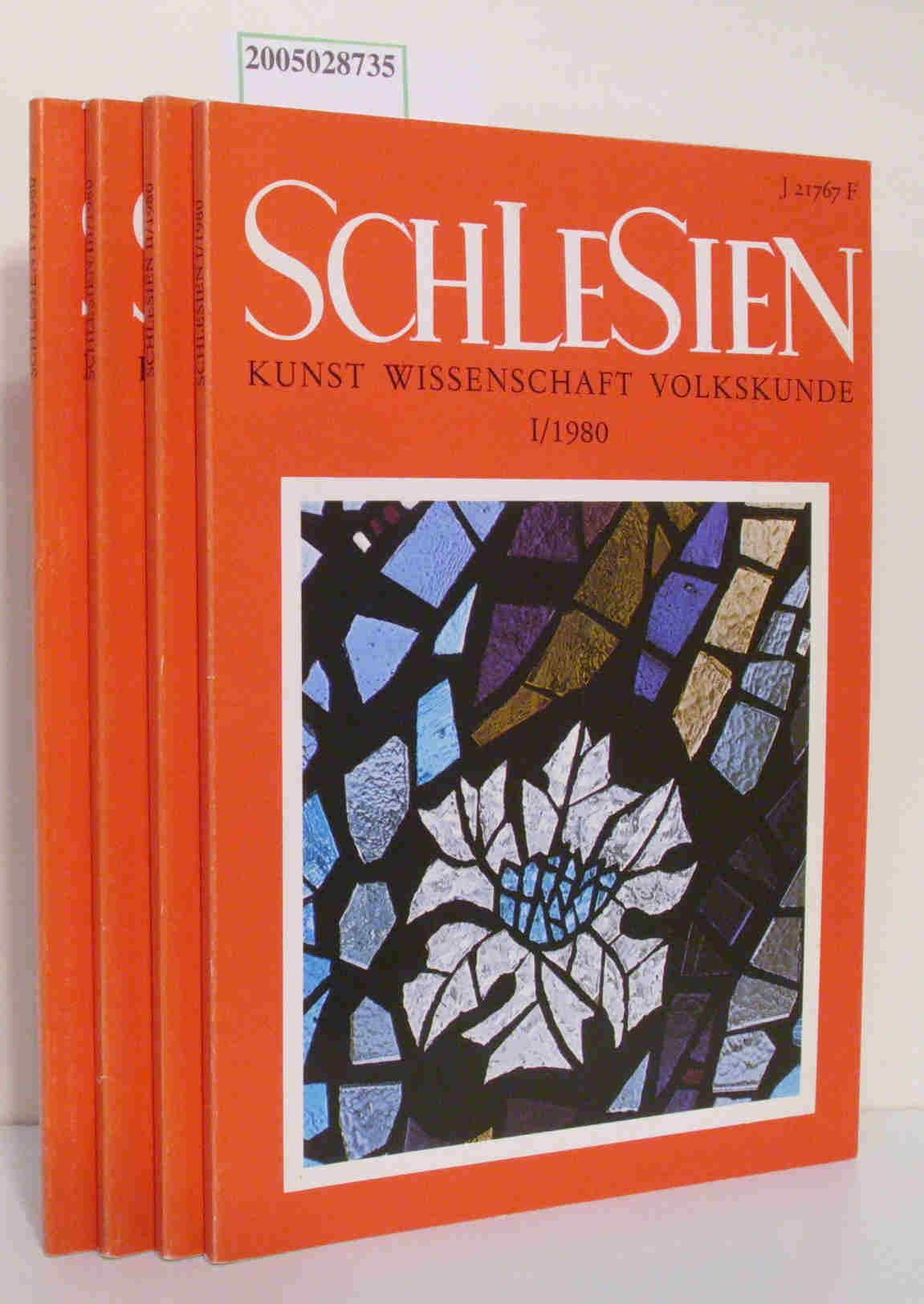 Schlesien Kunst Wissenschaft Volkskunde Heft I-IV kompletter Jahrgang