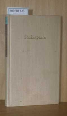 Shakespeare - Dramatische Werke in sechs Bänden Dritter Band  Einführung und Anmerkung von Walther Martin 1. Auflage