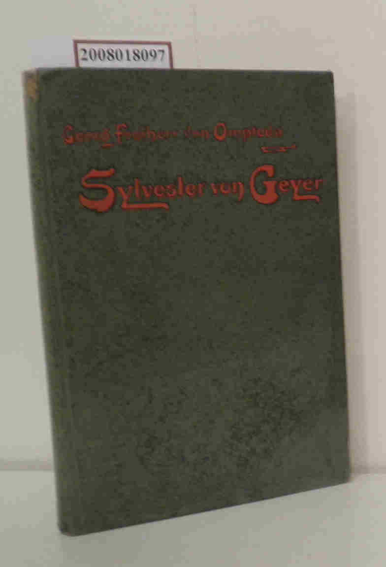 Sylvester von Geyer Erster Band