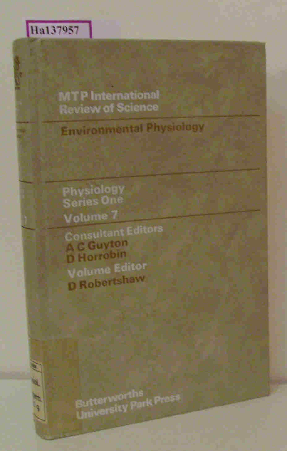 Environmental Physiology. Vol. 7. Physiology Series One.