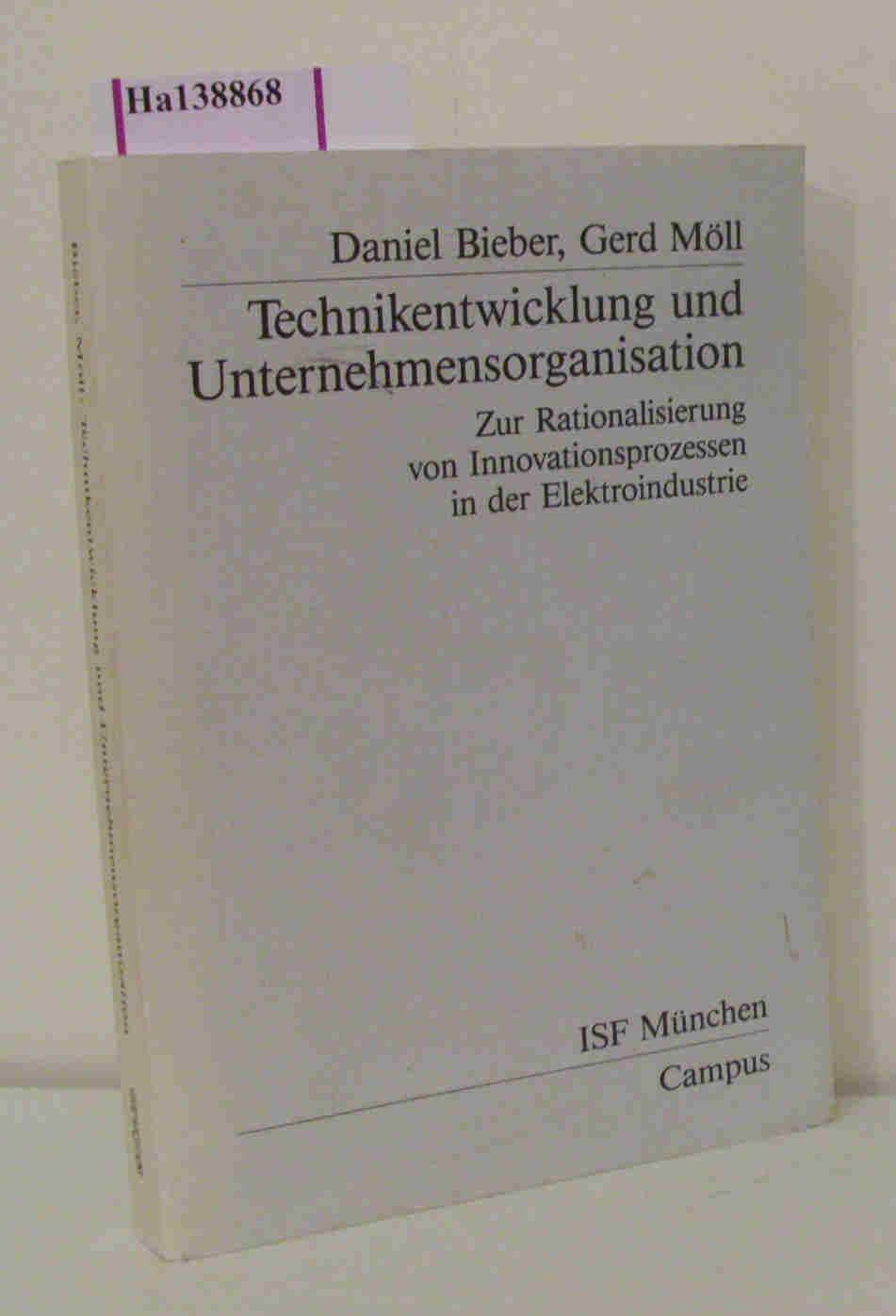 Technikentwicklung und Unternehmensorganisation. Zur Rationalisierung von Innovationsprozessen in der Elektroindustrie. ( Veröffentlichungen aus dem Institut für Sozialwissenschaftlichen Forschung e. V. ISF München) .