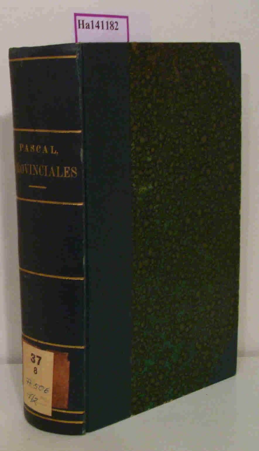 Les Provinciales de Pascal. 2
