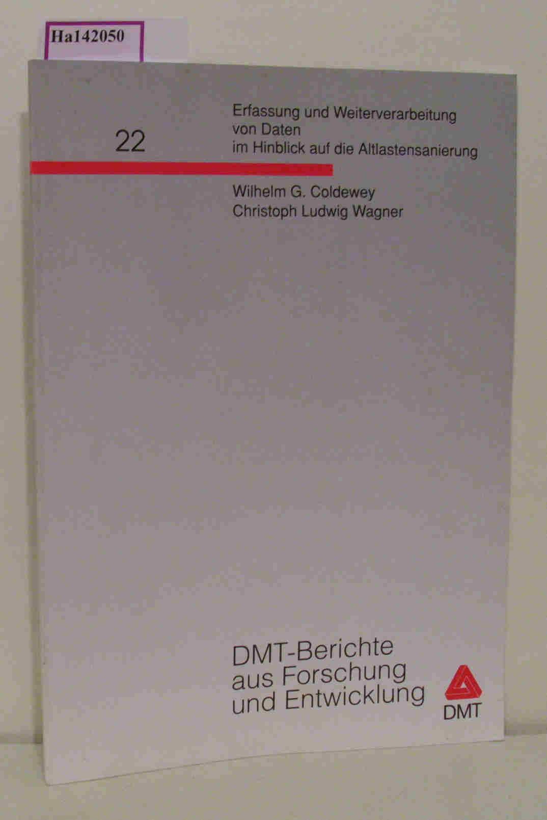 Erfassung und Weiterverarbeitung von Daten im Hinblick auf die Altlastensanierung. ( = DMT- Berichte aus Forschung und Entwicklung, 22) .