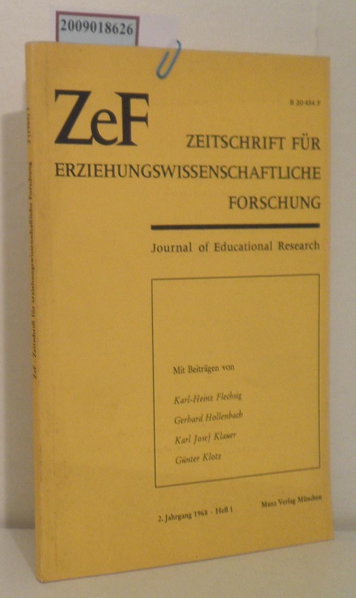 Flechsig karl Heinz u. a.: Zeitschrift für Erziehungswissenschaftliche Forschung 2. Jahrgang 1968, Heft 1