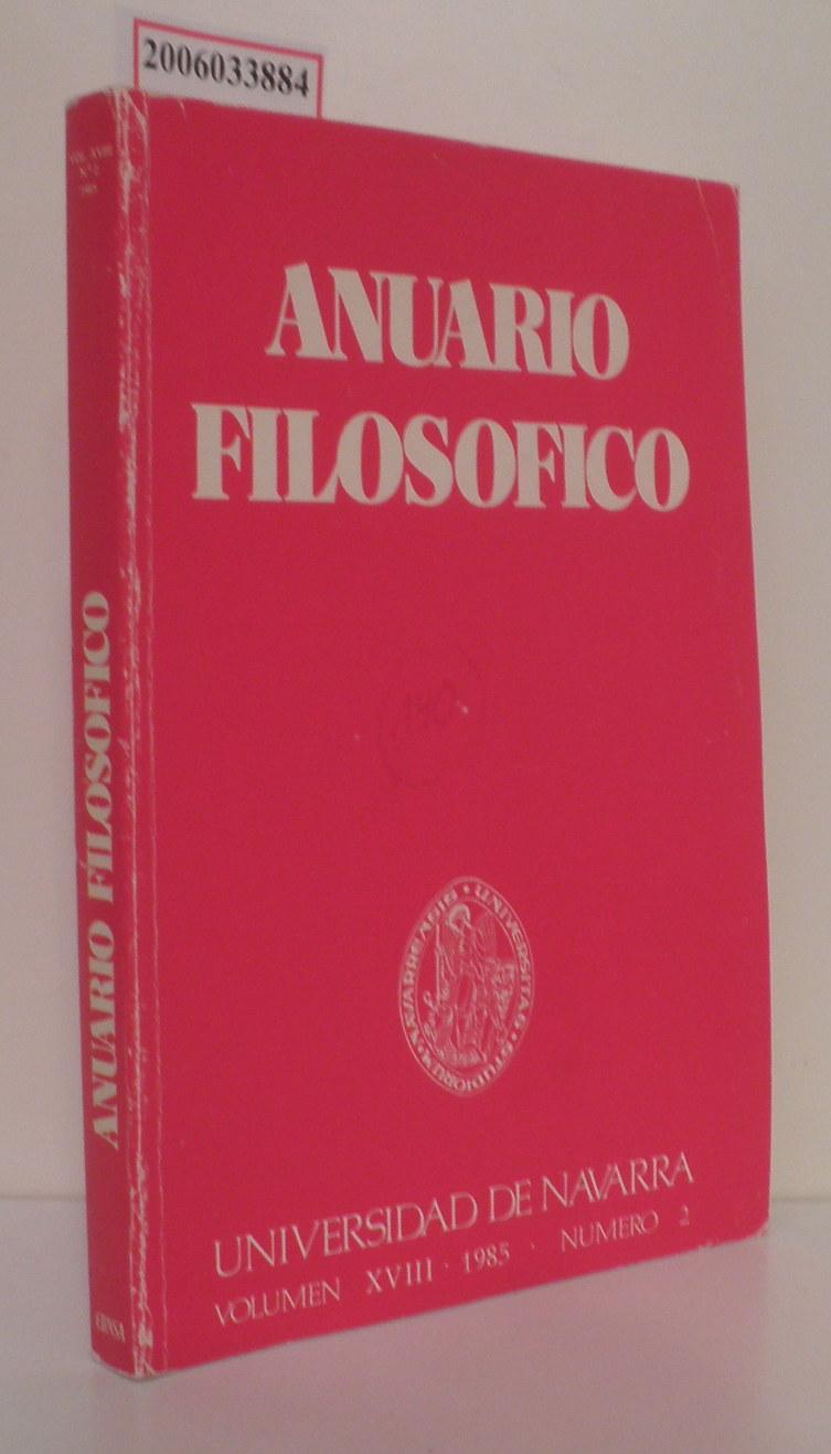 Anuario Filosofico Volumen XVIII * 1985 * Numero 2