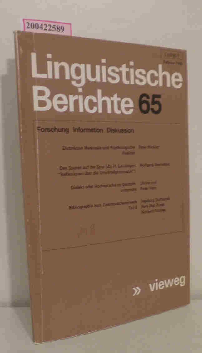 Linguistische Berichte 65 / Februar 1980
