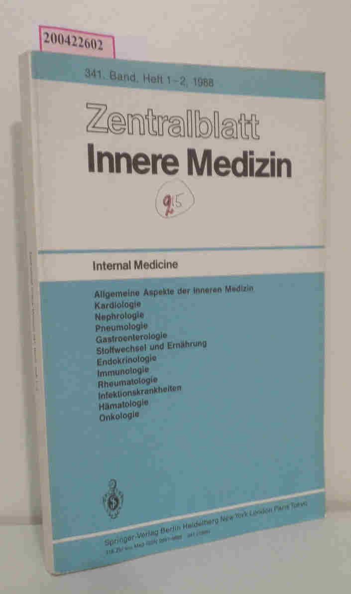 Zentralblatt Innere Medizin 341. Band, Heft 1-2, 1988