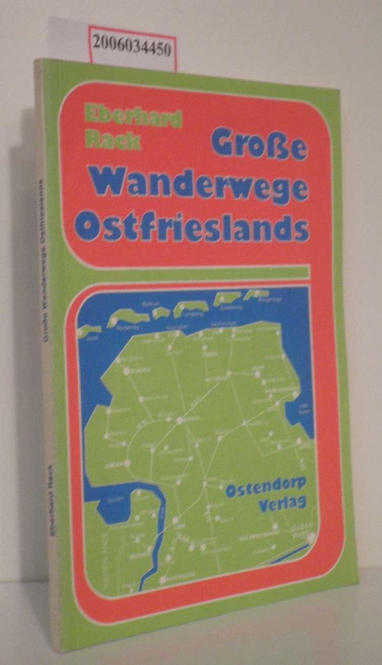 Große Wanderwege Ostfrieslands Darstellung der Wanderwege im ostfriesisch-friesischen Raum mit erläuterndem Kartenteil
