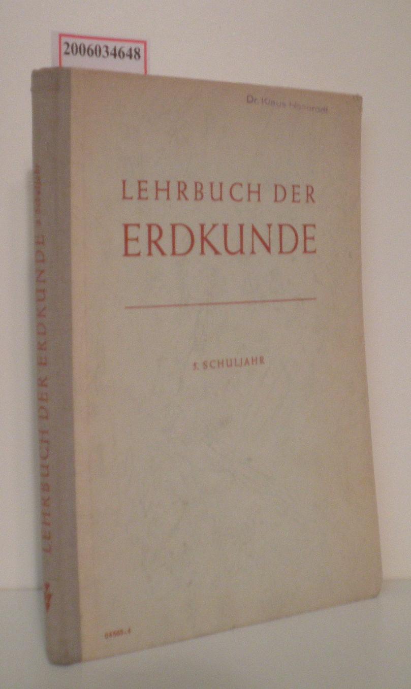 Lehrbuch der Erdkunde für das 5. Schuljahr A. Deutschland * B. Die Sowjetunion