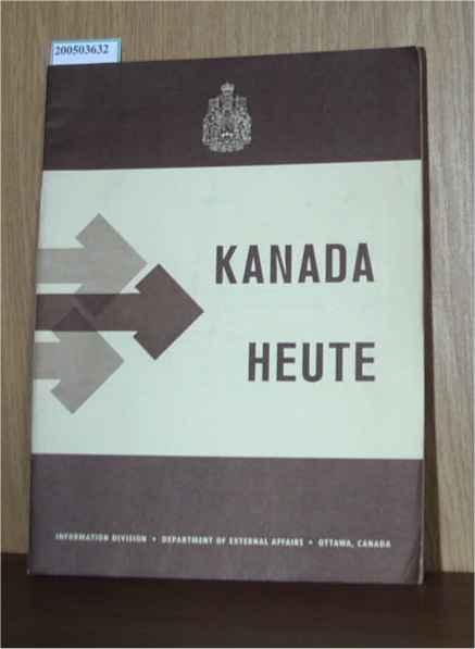 Kanada heute, Information Division, Department of external Affairs