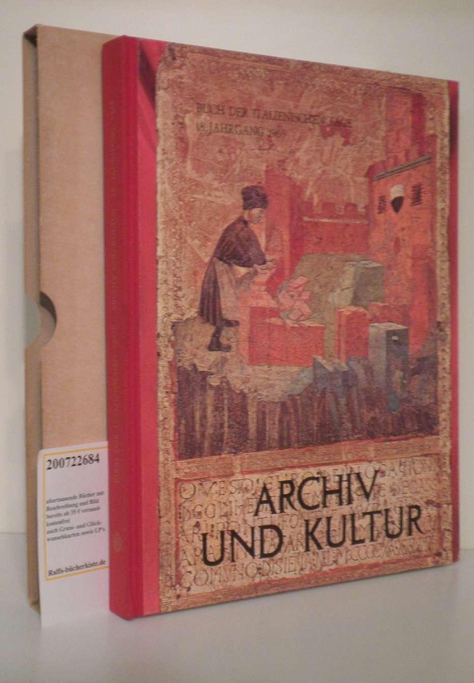 Baggio,  Elena   Wangemann, Rolf: Archiv und Kultur [Red.: Elena Baggio. Übers.: Rolf Wangemann]
