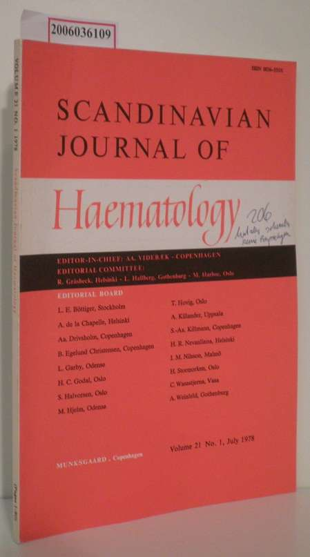 Scandinavian Journal of Haematology Volume 21 - No. 1 - July 1978
