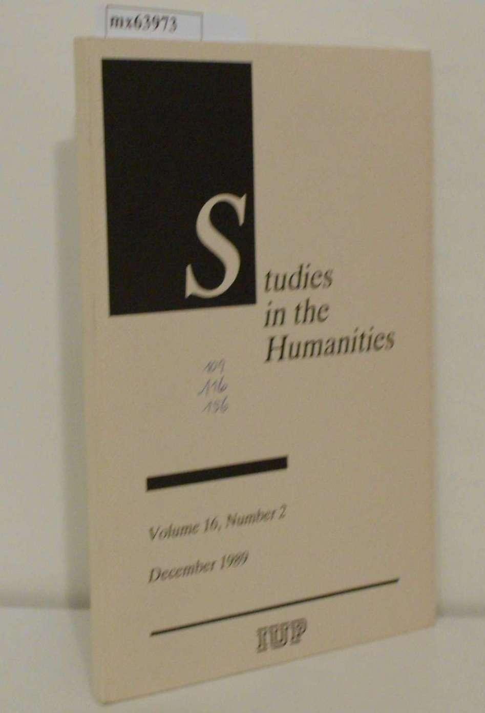 Studies in the Humanities Vol. 16, No. 2, December 1989