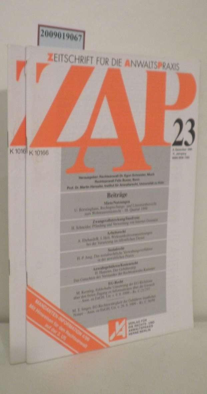 ZAP Zeitschrift für die Anwaltspraxis Heft 23 und 24