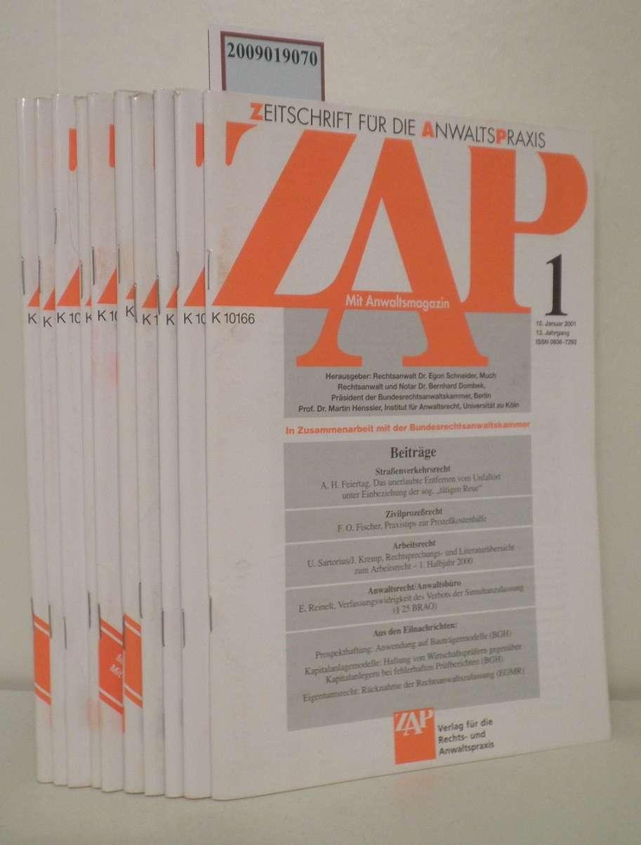 ZAP Zeitschrift für die Anwaltspraxis Heft 1-4, 10, 12-15, 21