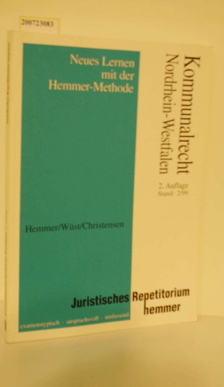Juristisches Repetitorium Hemmer Kommunalrecht Nordrhein-Westfalen