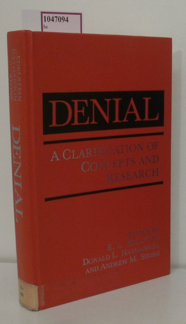 Denial. A Clarification of Concepts and Research.
