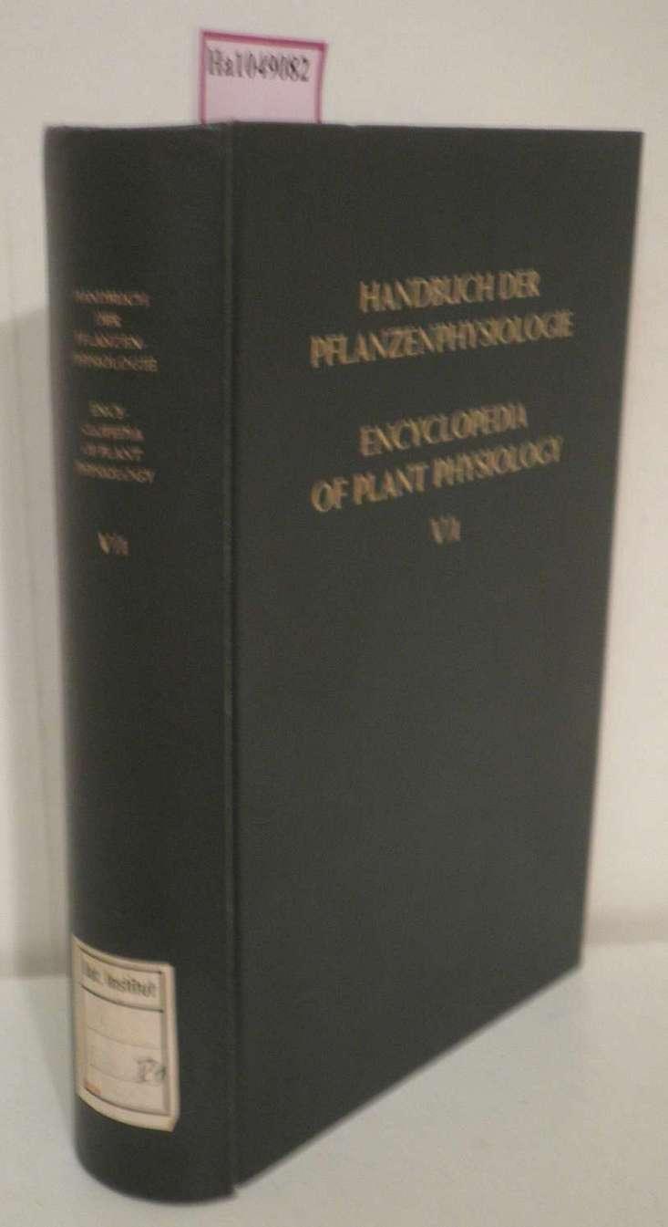 Handbuch der Pflanzenphysiologie, Bd.V: Die CO2-Assimilation. Teil 1. Encyclopedia of Plant Physiology, vol.V: The Assimilation of Carbon Dioxide. Part 1.