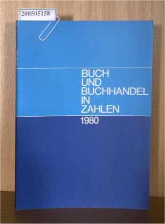 Buch und Buchhandel in Zahlen 1980