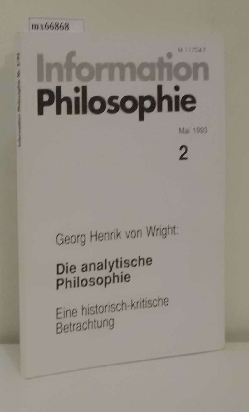 Information Philosophie Heft 2  Mai 1993
