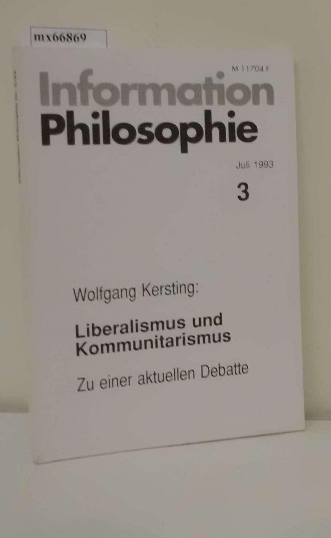 Information Philosophie Heft 3  Juli 1993