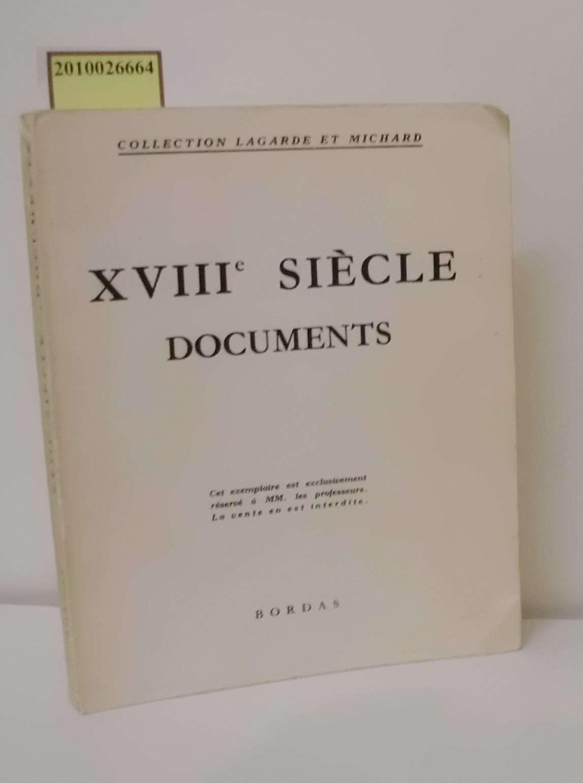 XVIIIe siècle documents